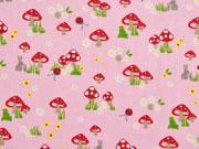 Baumwolle Pilze, rosa