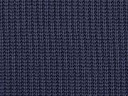 RESTSTÜCK 85 cm Strickstoff Baumwolle gerippt, dunkelblau