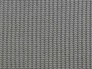 Strickstoff Baumwolle Halbpatent gerippt, grau