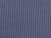 Strickstoff Baumwolle Halbpatent gerippt, jeansblau