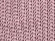 Strickstoff Baumwolle Halbpatent gerippt, altrosa