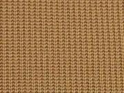 Strickstoff Baumwolle Halbpatent gerippt, camel