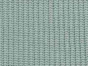 Strickstoff Baumwolle Halbpatent gerippt, altmint