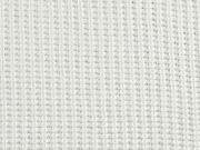 Strickstoff Baumwolle gerippt, weiß