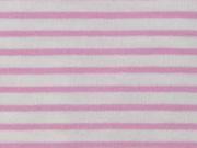Jersey Streifen, rosa weiß