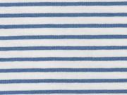 Jersey Streifen, graublau weiß