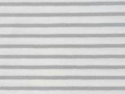 Jersey Streifen, hellgrau weiß