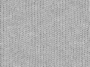Strickstoff Baumwolle Meterware uni, hellgrau