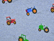 Sweatstoff Traktoren, jeansblau meliert