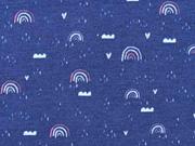 Jersey Regenbögen Wolken, dunkelblau