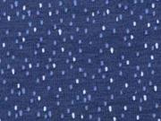 Jersey kleine Punkte Striche Drizzle , rosa dunkelblau