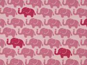 Jersey Elefanten, dunkles altrosa auf altrosa