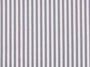 RESTSTÜCK 28 cm Baumwollstoff Streifen, grau weiß