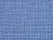 Waffelpique Frottee, jeansblau