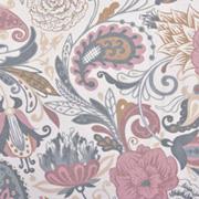 Jerseystoff Paisley Blumen Digitaldruck, altrosa cremeweiß
