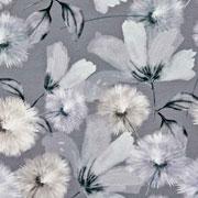 Jerseystoff Pusteblumen Digitaldruck, beige grau