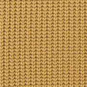 Strickstoff Baumwolle Halbpatent gerippt, ockergelb