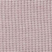Strickstoff Baumwolle Halbpatent gerippt, helles altrosa meliert