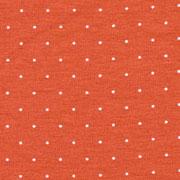 Jerseystoff kleine Punkte, weiß terracotta braun