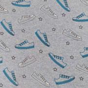 Alpenfleece Sweat Turnschuhe Sneaker, jeansblau