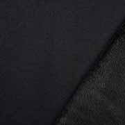 Sweatstoff Alpenfleece uni, schwarz