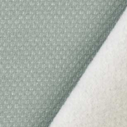 Jacquard Sweatstoff Drizzle Kästchenmuster, weiß altmint