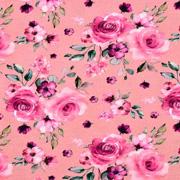 Jerseystoff Rosen Digitaldruck, altrosa