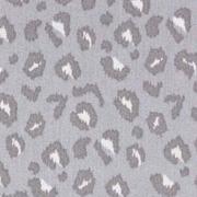 Baumwollstoff Leomuster, taupe weiß grau
