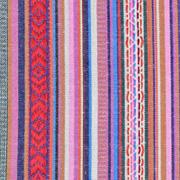 Mexiko Stoff Ethno Look Streifen & Borten, rot rosa