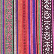 Mexiko Stoff Ethno Look Streifen & Borten, rot orange lila