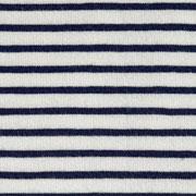 Jersey Stoff Streifen, dunkelblau cremeweiß