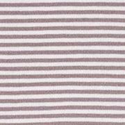 Jerseystoff Streifen 3 mm, dunkeltaup weiß