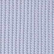 Strickstoff Baumwolle Halbpatent gerippt, weiß