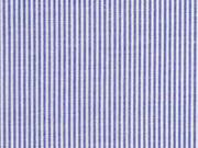 Baumwolle Stretch schmale Streifen, blau weiß