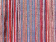 Dickerer Stoff Mexiko Streifen, braun rot