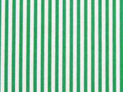 Baumwolle Streifen 2mm, grün weiß