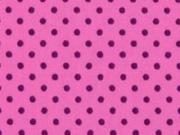 Punkte 2mm, pflaume auf rosa