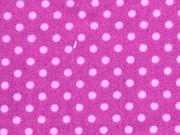 Punkte 2mm, rosa auf pflaume