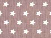 BW Sterne 1 cm, weiss auf schokobraun