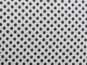 RESTSTÜCK 72 cm Jerseystoff Punkte 3mm, dunkelgrau auf hellgrau