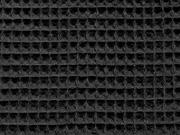 RESTSTÜCK 37 cm Waffelpiqué Frottee, schwarz