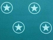 RESTSTÜCK 82cm Softshell Jackenstoff Sterne im Kreis, petrol/mint