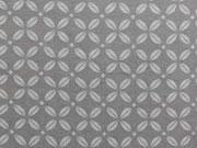 RESTSTÜCK 42 cm Jersey Kreuzblume, mittelgrau