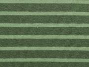 angerauter Sweat Strefen, hellgrün auf khaki