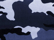 angerauter Sweat Camouflage, blau