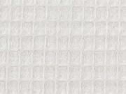 Waffelpiqué Frottee Stoff, cremeweiß