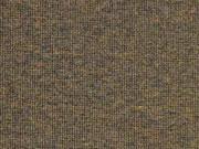 glattes Bündchen dunkelbraun schwarz melange
