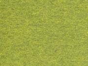 glattes Bündchen grüngelb schwarz melange