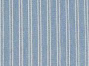 Jeansstoff Streifen, weiß hellblau