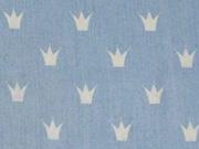 leichter Jeans weiße Kronen, hellblau